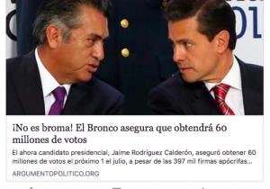 ¿El Bronco presumió que conseguirá 60 millones de votos? No, pero sí se equivocó en la cifra de indecisos