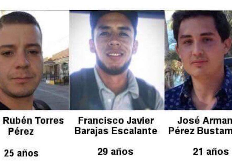 Reportan hallazgo de tres estudiantes desparecidos en Jalisco