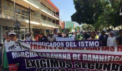 Caravana de damnificados de Oaxaca marcha hacia la Ciudad de…
