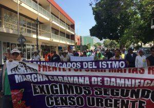 Caravana de damnificados de Oaxaca marcha hacia la Ciudad de México para exigir atención a sus demandas