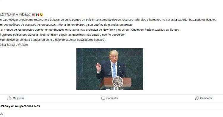 Trump sí quiere el muro, pero no 'para que el gobierno de EPN trabaje en serio'