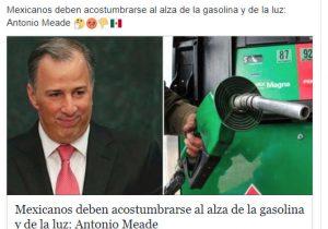 """""""Mexicanos deben acostumbrarse al alza de la gasolina y de la luz"""": la frase que NO es de Meade"""