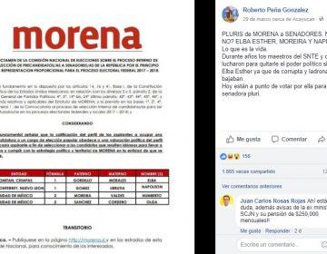 Falso que Elba Esther vaya de 'pluri' por Morena