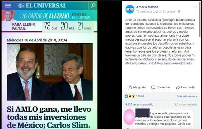 Carlos Slim no declaró que se llevará sus inversiones si gana López Obrador