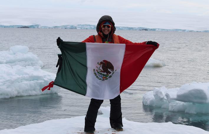 Sandra Guzmán, la primera científica mexicana en realizar una expedición a la Antártida