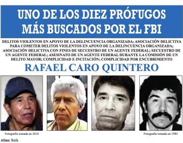 """El FBI incluye a Caro Quintero en """"los más buscados"""", ¿por qué México lo liberó en 2013?"""