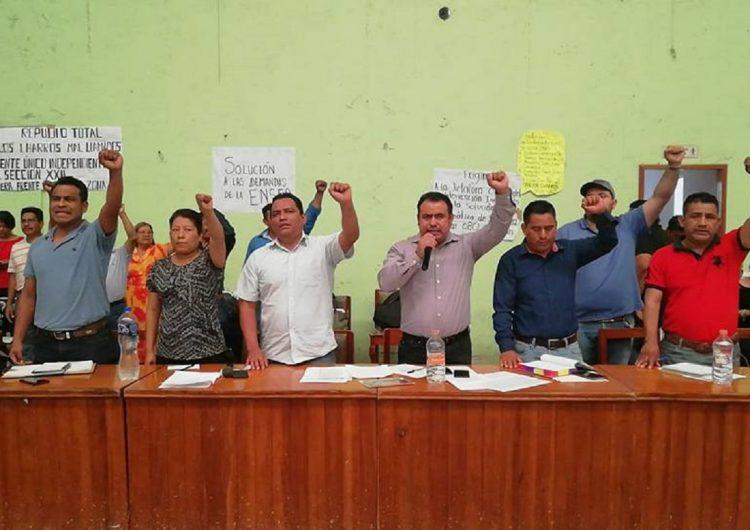 Demanda Sección 22 libertad de activista oaxaqueño