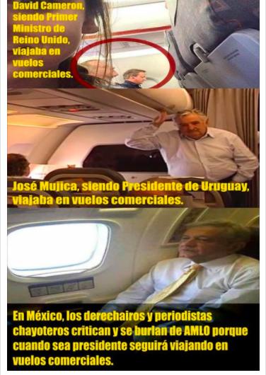 ¿Los presidentes de otro países vuelan en aviones comerciales?