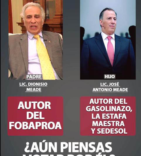 El padre de José Antonio Meade no es el autor del Fobaproa