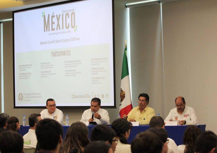 Presentan partidos propuestas a estudiantes del Tec de Monterrey