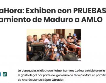 Circula comunicado de prensa falso sobre relación entre el gobierno de Maduro y López Obrador