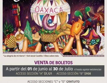 "Incrementan costos de boletos para espectáculo ""La Guelaguetza"""