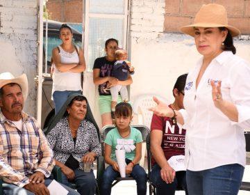 Urge Lorena Martínez a combatir rezago en Asientos, Cosío y El Llano