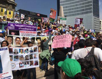 Asisten madres de las y los desparecidos en Jalisco a Marcha por la Dignidad