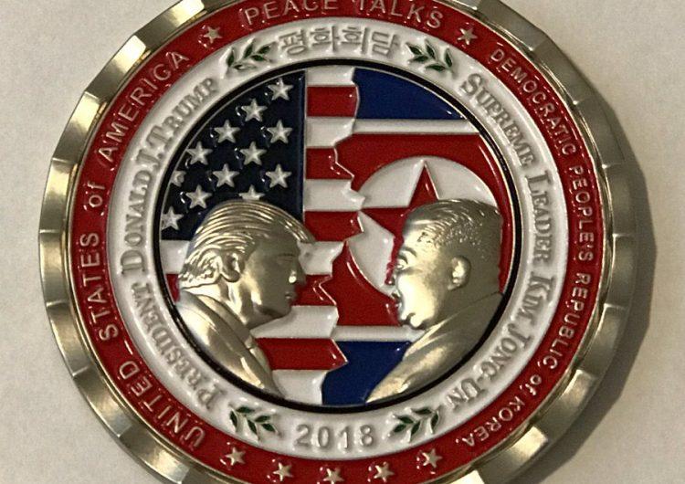 Trump y Kim cara a cara: la Casa Blanca lanza moneda conmemorativa con sus rostros