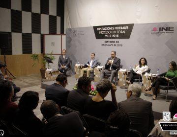 Debaten aspirantes a Diputación Federal del Distrito III de Querétaro