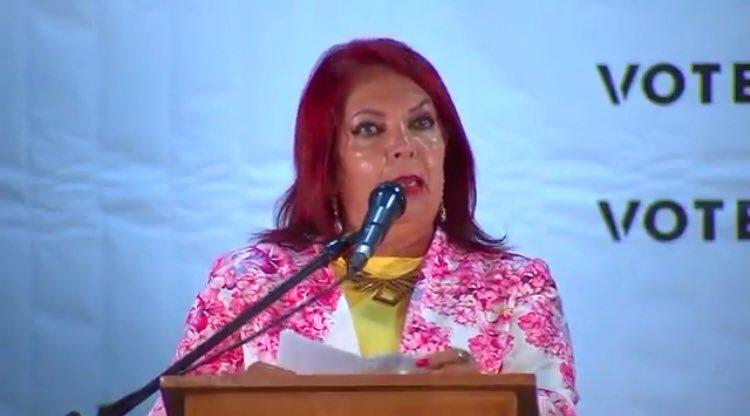 ¿#LadyCoral?, no, es la candidata del PRD a la alcaldía de Ciénega de Flores en debate