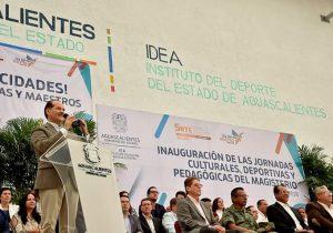 Inauguró Orozco jornada deportiva y pedagógica del magisterio