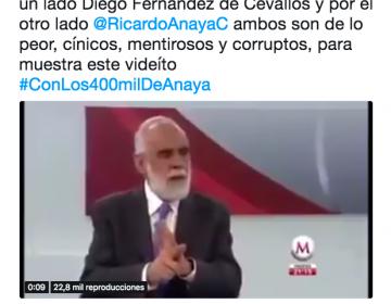 Editan video de Diego Fernández de Cevallos para que parezca que acusa a Anaya de varios delitos