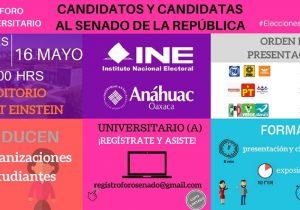 Candidatos al Senado por Oaxaca participarán en foro universitario