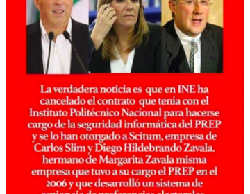 El Programa de Resultados Electorales está en manos sólo del INE; el contrato con la empresa de Slim es contra ataques cibernéticos