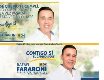 ¿Por qué son así? Manipulan propaganda de candidato a diputado federal en Veracruz