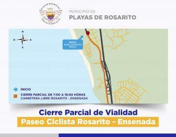 ¡Precaución! Cerrarán Carretera Libre Rosarito-Ensenada