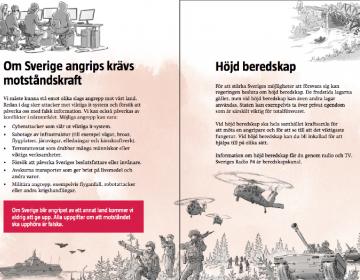 """Suecia envía millones de folletos a sus ciudadanos con indicaciones """"en caso de crisis o guerra"""""""