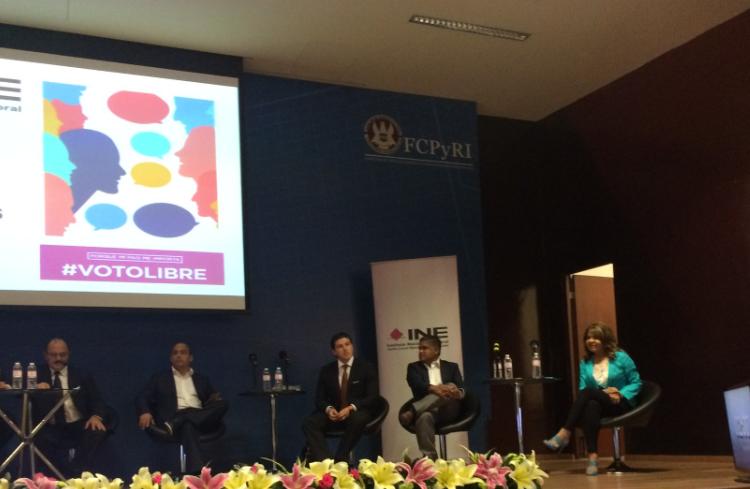 Debaten candidatos al Senado por NL en encuentro organizado por el INE