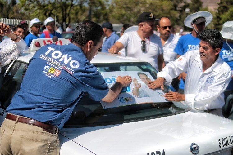 Propone Toño Martín del Campo mejores condiciones laborales para taxistas