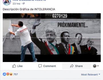 #ObvioPhotoshop: Un simpatizante de Morena no retiró publicidad sobre la serie Populismo en América Latina.