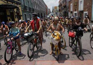 Rodada al Desnudo Puebla 2018 para pedir no más accidentes