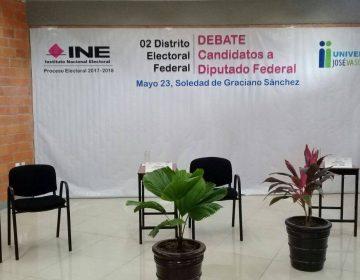 Nos quedamos sin debate: candidatos de SLP dejaron plantado al INE