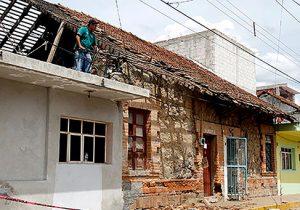 Casas de Atlixco dañadas por S-19 a la espera de recursos