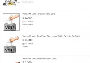 #EstoSíPasó: Usuarios ofrecen su voto en Internet a cambio de tres mil pesitos