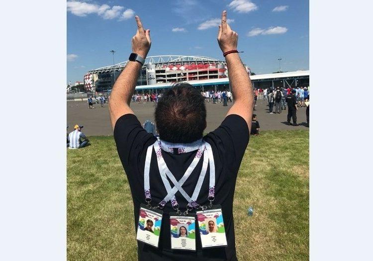 Un aficionado mexicano viajó al Mundial para despedirse de su familia fallecida en un accidente