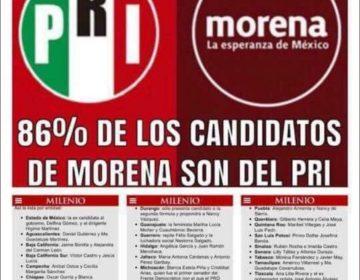 Ningún partido se salva, todos tienen a expriistas entre sus candidatos; Morena y el PT los que suman más