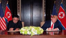 La reunión entre Trump y Kim no llevó a nada…