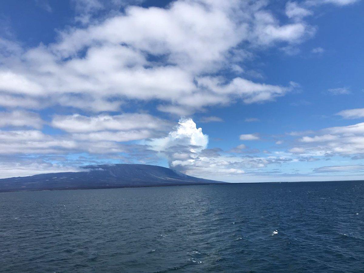 Volcán en isla Fernandina entra en proceso eruptivo