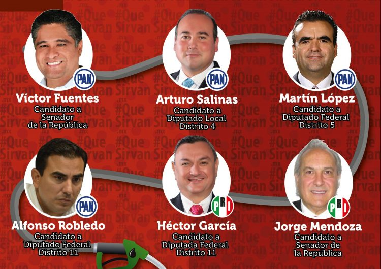 """Alertan por 8 """"padres del gasolinazo"""" del PRI-PAN en NL que quieren reelegirse como legisladores"""