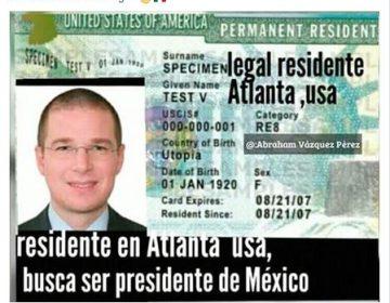 #ObvioPhotoshop: El permiso de residencia de Estados Unidos que circula en redes NO es de Anaya