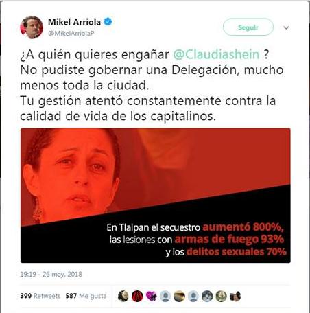 Mikel Arriola dice que durante la gestión de Sheinbaum en Tlalpan creció la inseguridad, ¿es cierto?