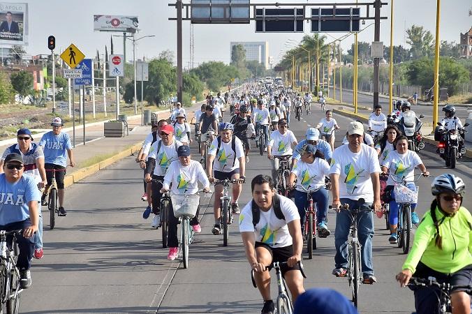 Celebran el Día Mundial de la Bicicleta en Aguascalientes