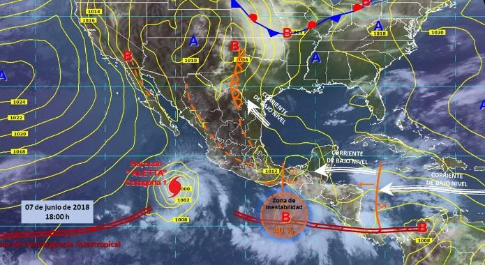 Onda Tropical causará lluvias en Oaxaca, alerta Conagua