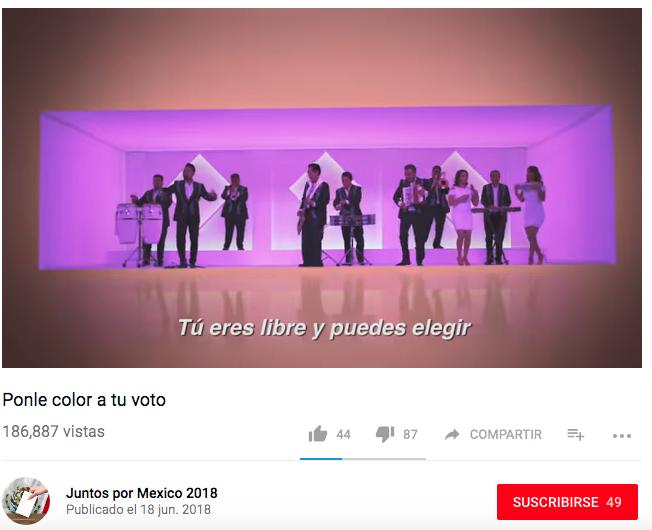 #EstoSíPasó: Los Ángeles Azules lanzan una campaña por el voto dividido, pero no quieren decir quién lo patrocina