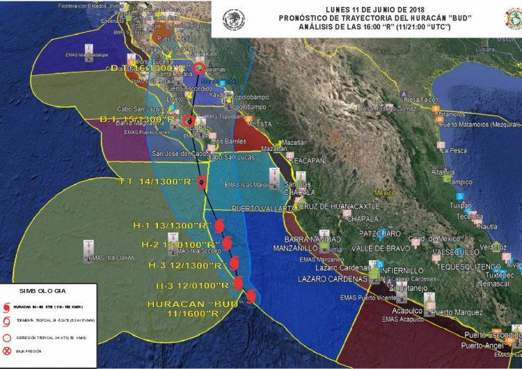 """""""Bud"""" se acerca a costas de Jalisco y SEMAR activa plan en fase de prevención"""