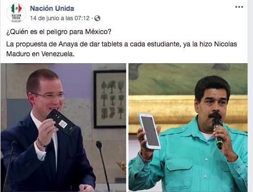 Verificado 2018:  Ahora acusan a Anaya de copiar propuestas de Maduro