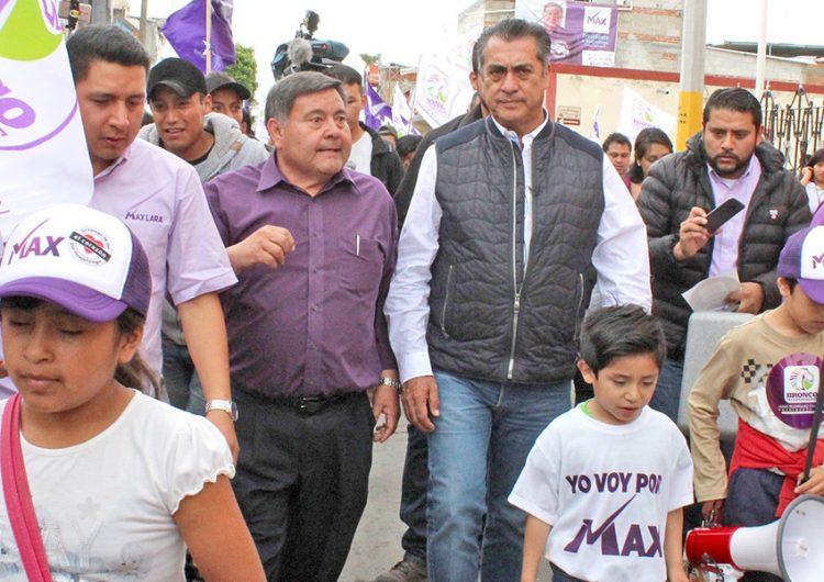 """""""Blindaré al país y reduciré impuestos"""", señala El Bronco en Huejotzingo"""