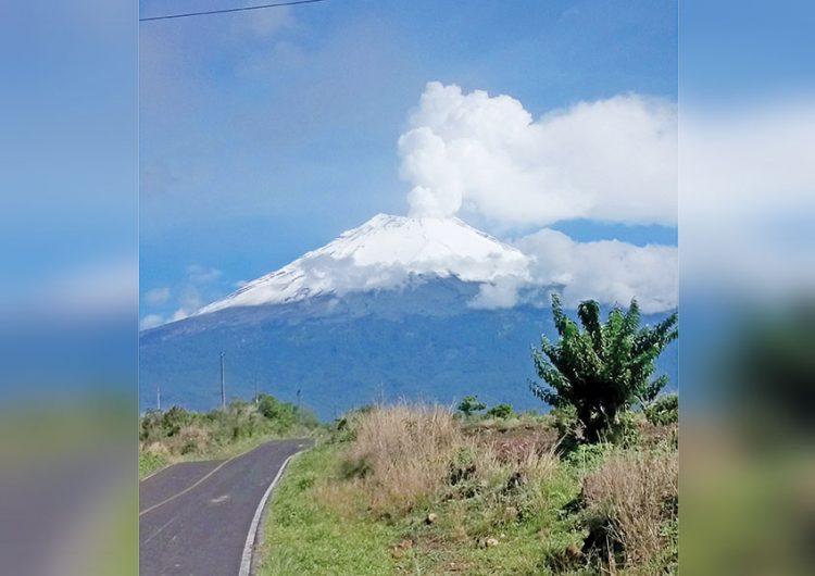 Aumentan rugidos de tierra bajo el Popocatépetl