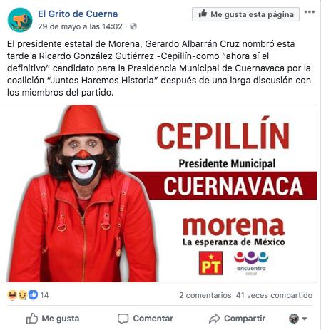 #ObvioPhotoshop Cepillín no es candidato, esa imagen es un concierto y no un mitin de López Obrador